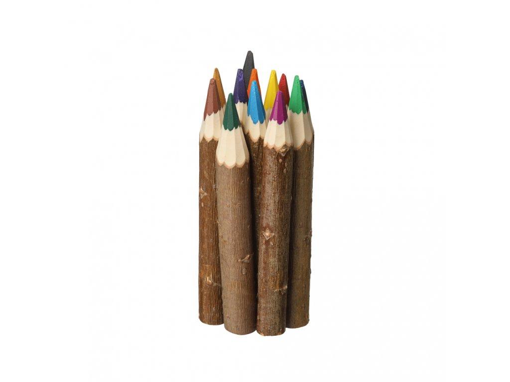 Dřevěné pastelky 12 barev