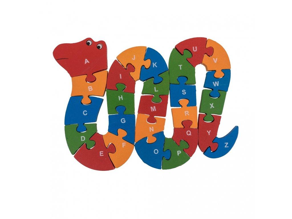 Dřevěné puzzle had