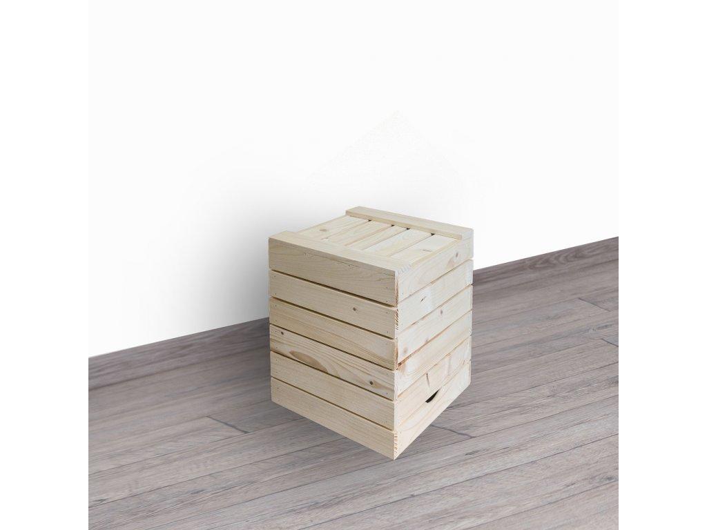 Dřevěná bedýnka sedák 30x35x30 cm