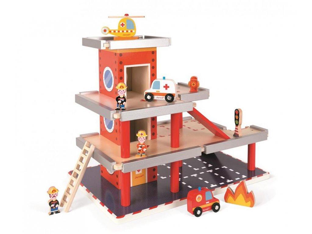 Dřevěná požární stanice a garáž – doplňky 10 ks