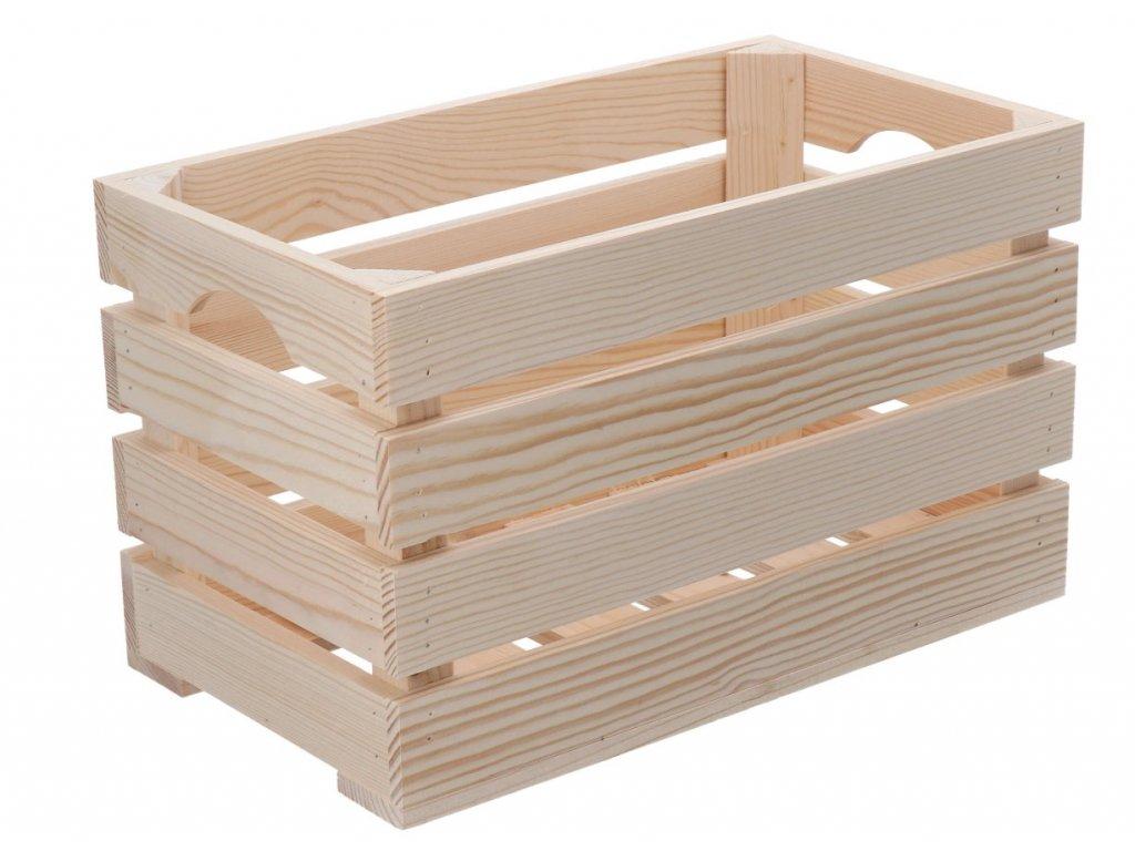 Dřevěná bedýnka 40 x 22 x 24 cm