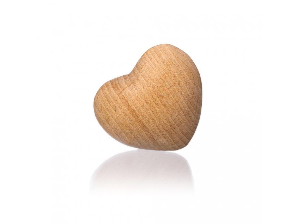 Srdíčko dřevěné 3D