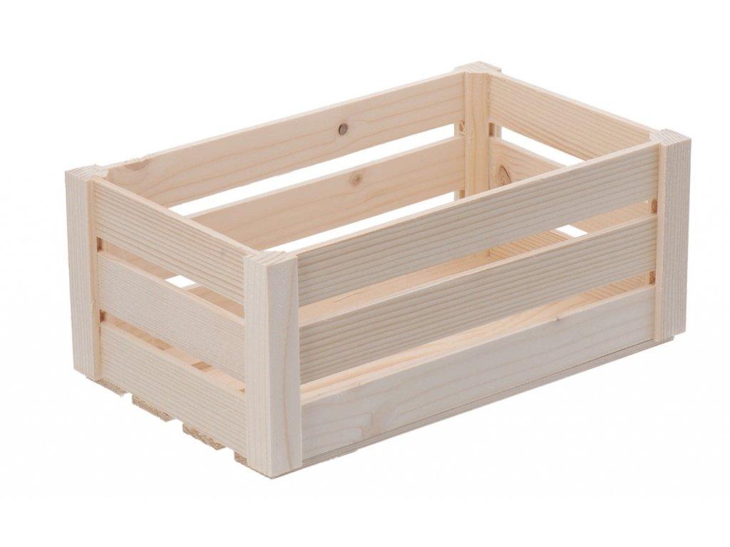 Dřevěná bedýnka střední