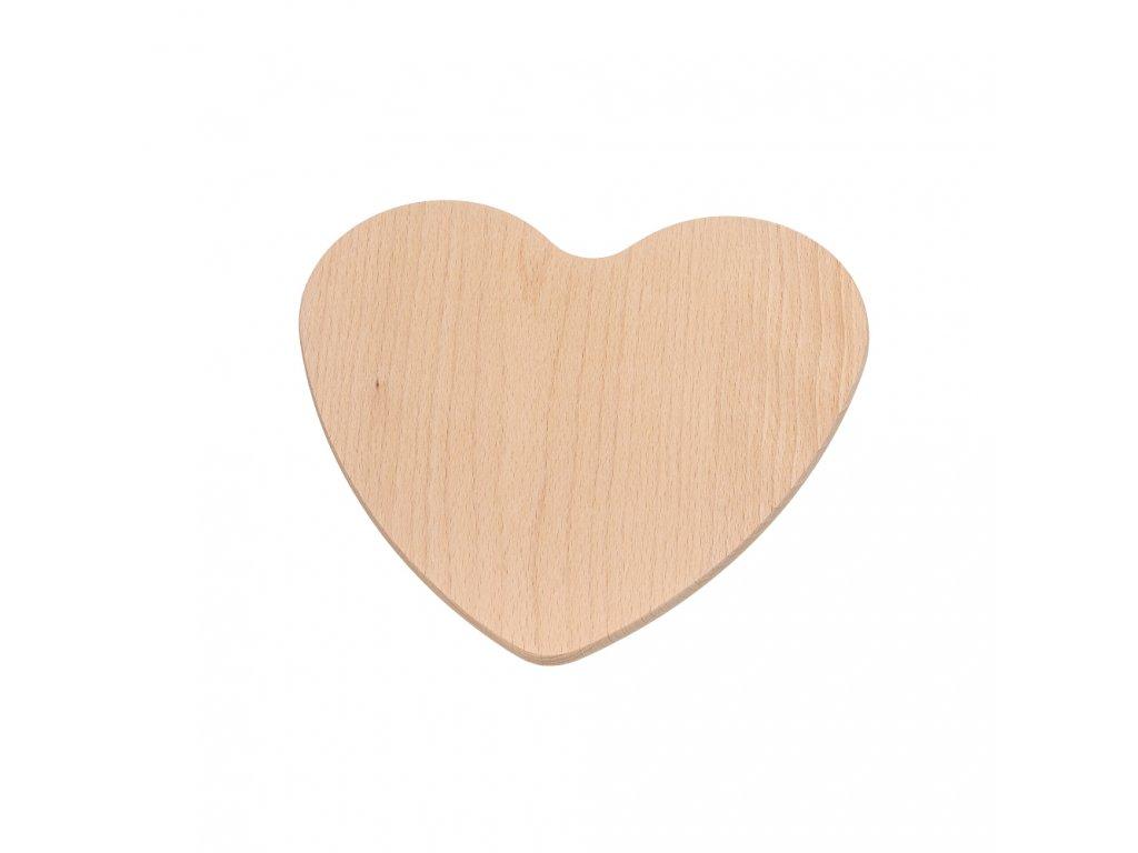 Prkénko srdce dřevěné