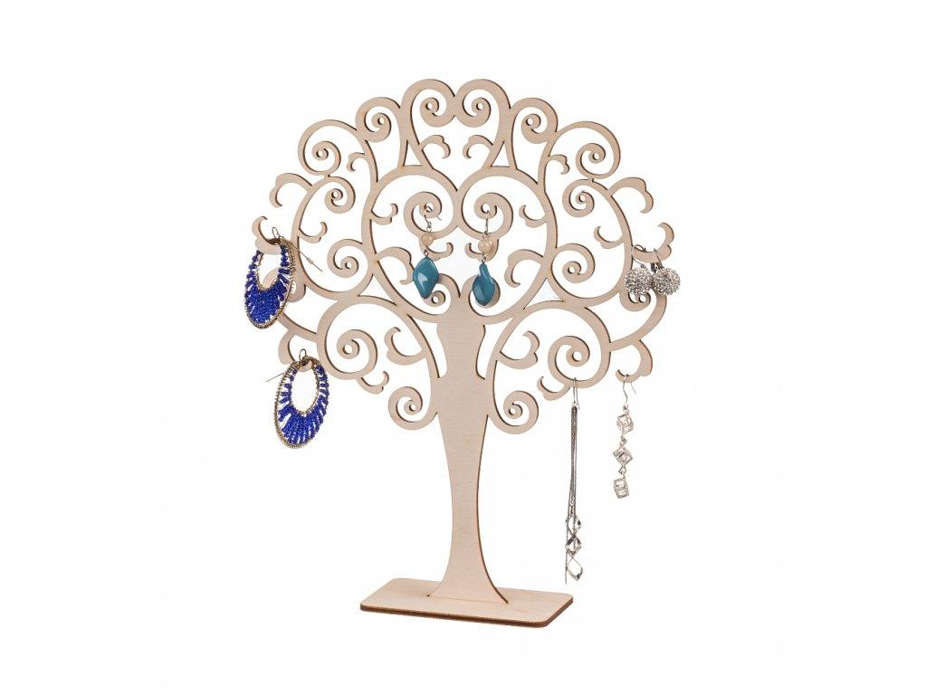Dřevěný kulatý stromeček na šperky