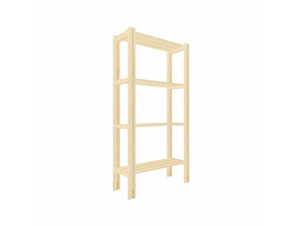 Regál dřevěný lm4 150 x 75 x 30 cm