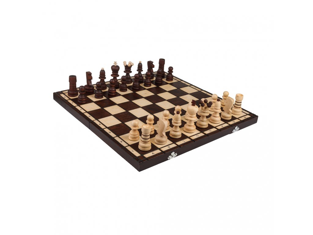 Dřevěné šachy střední 42 x 42 cm