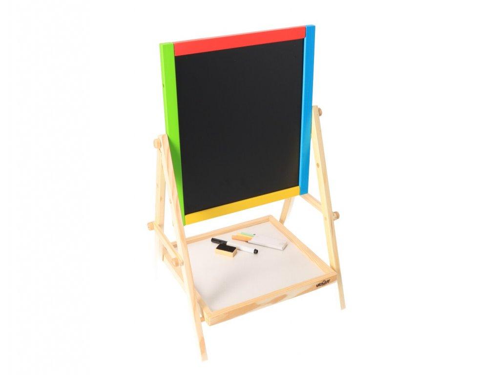 Dřevěná tabule oboustranná - křída a fix