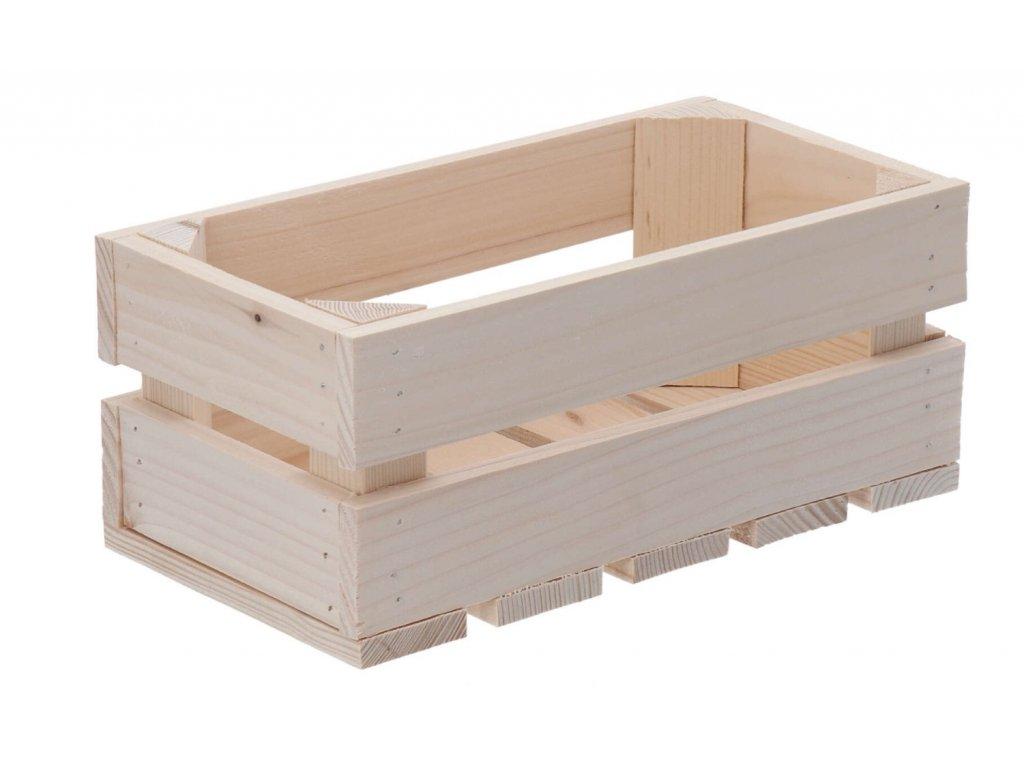 Dřevěná bedýnka 28 x 15 x 12 cm