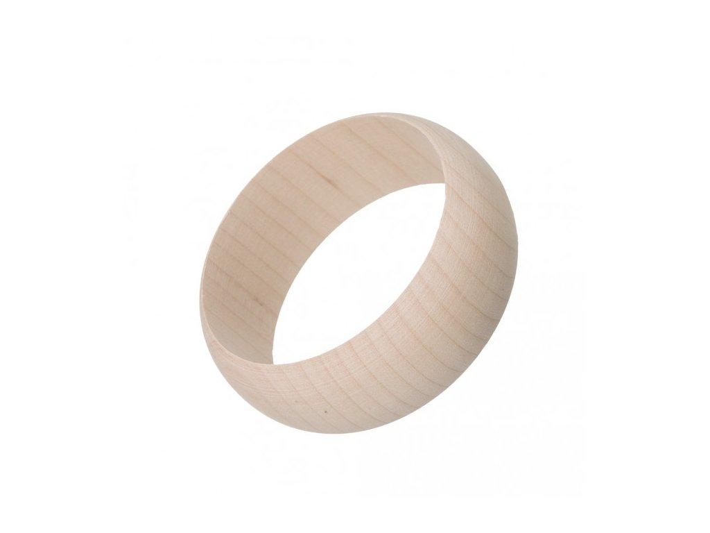 Dřevěný náramek zakulacený 3 cm