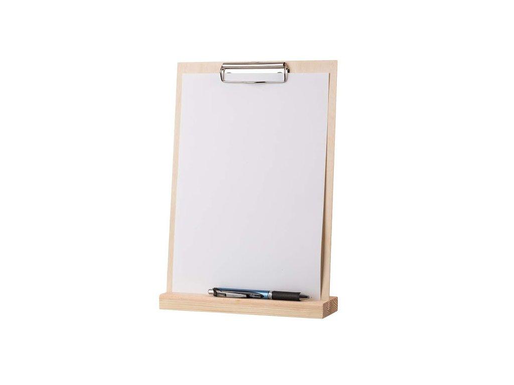 Dřevěný stojan na menu A4