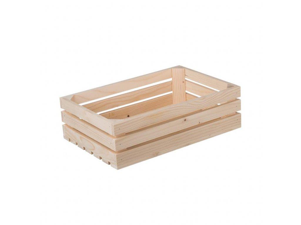 Dřevěná bedýnka 40 x 26 x 12 cm II