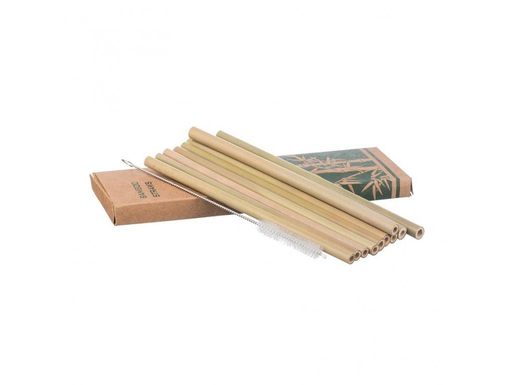 Bambusová brčka - sada 10 ks