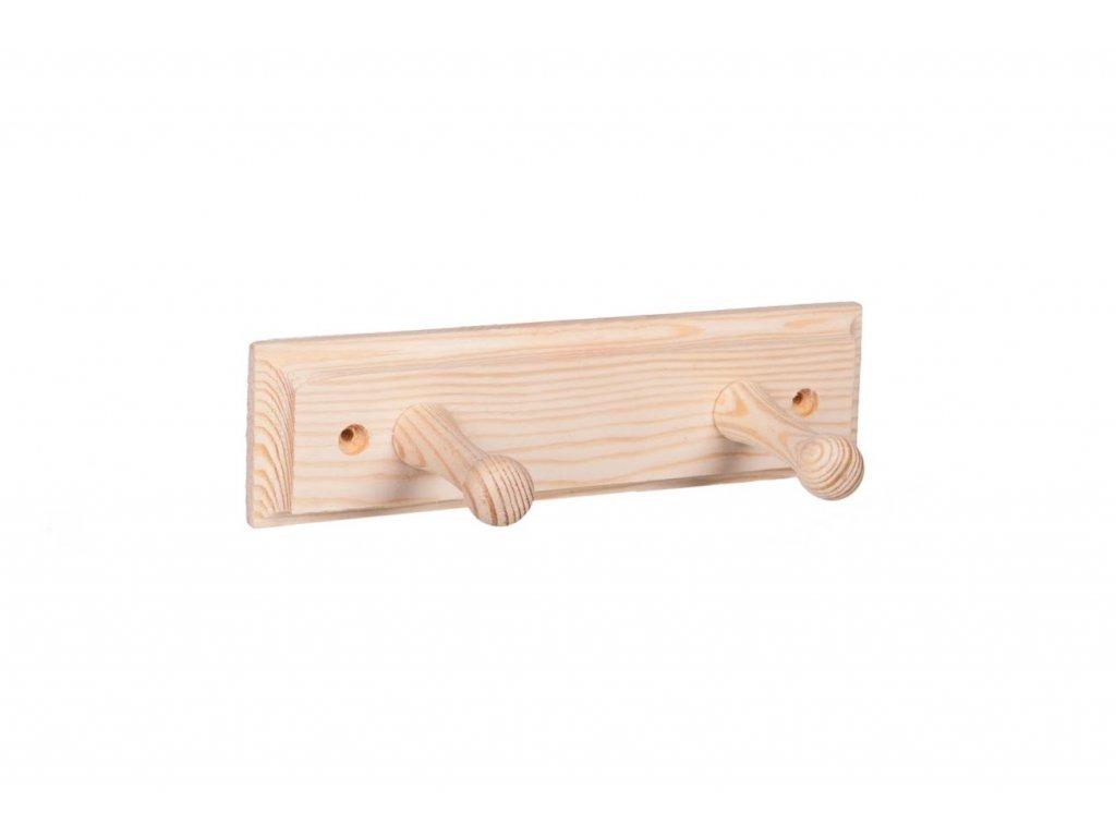 Nástěnný věšák dřevěný 20cm