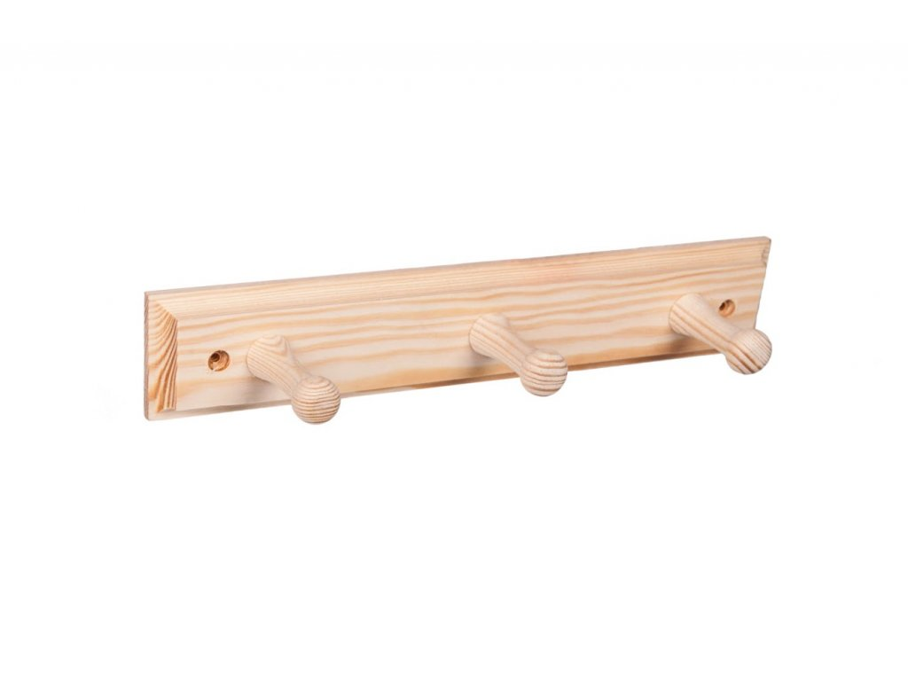 Nástěnný věšák dřevěný 30cm