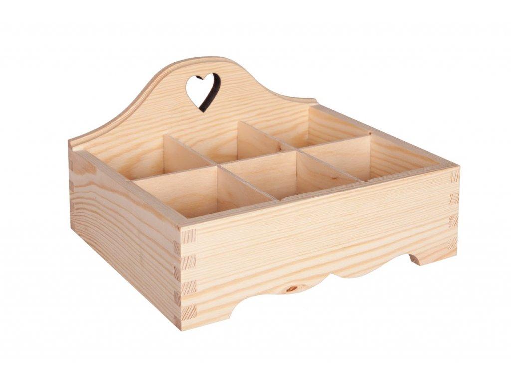 Dřevěný organizér IX se srdíčkem