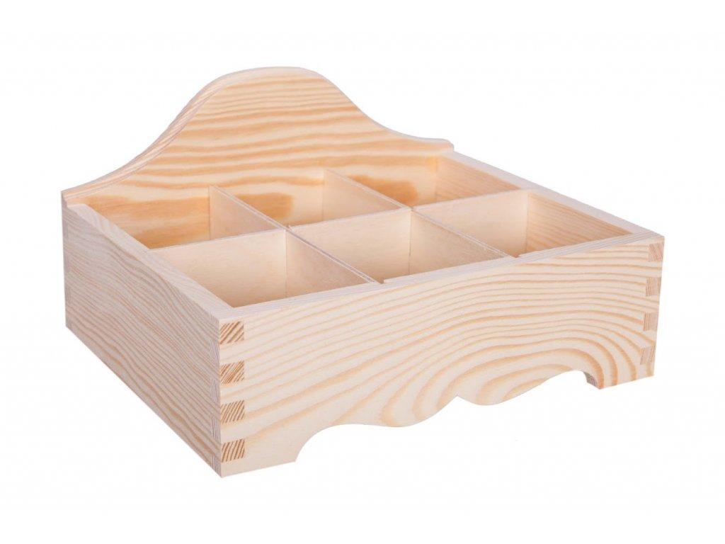 Dřevěný organizér IX