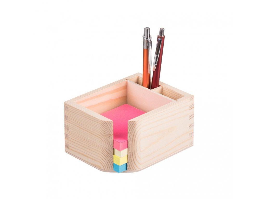 Dřevěný stojan na bloček a propisky