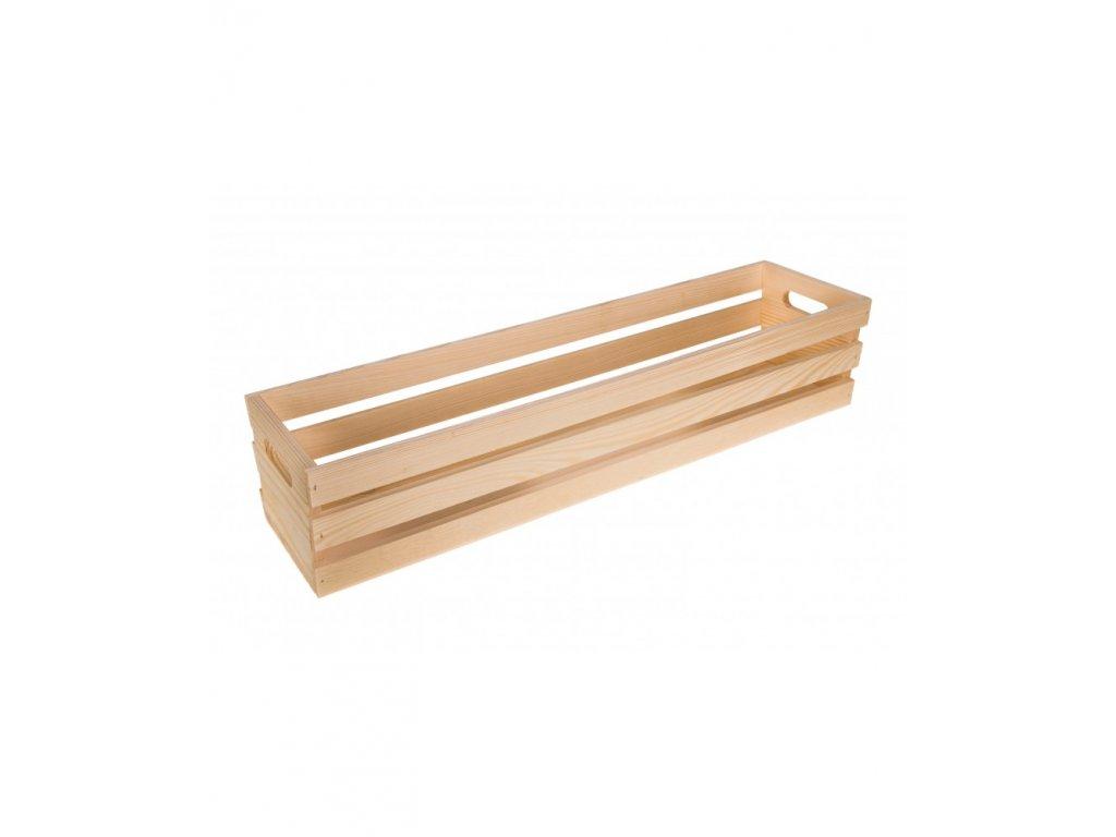 Dřevěná bedýnka květináč - 60cm
