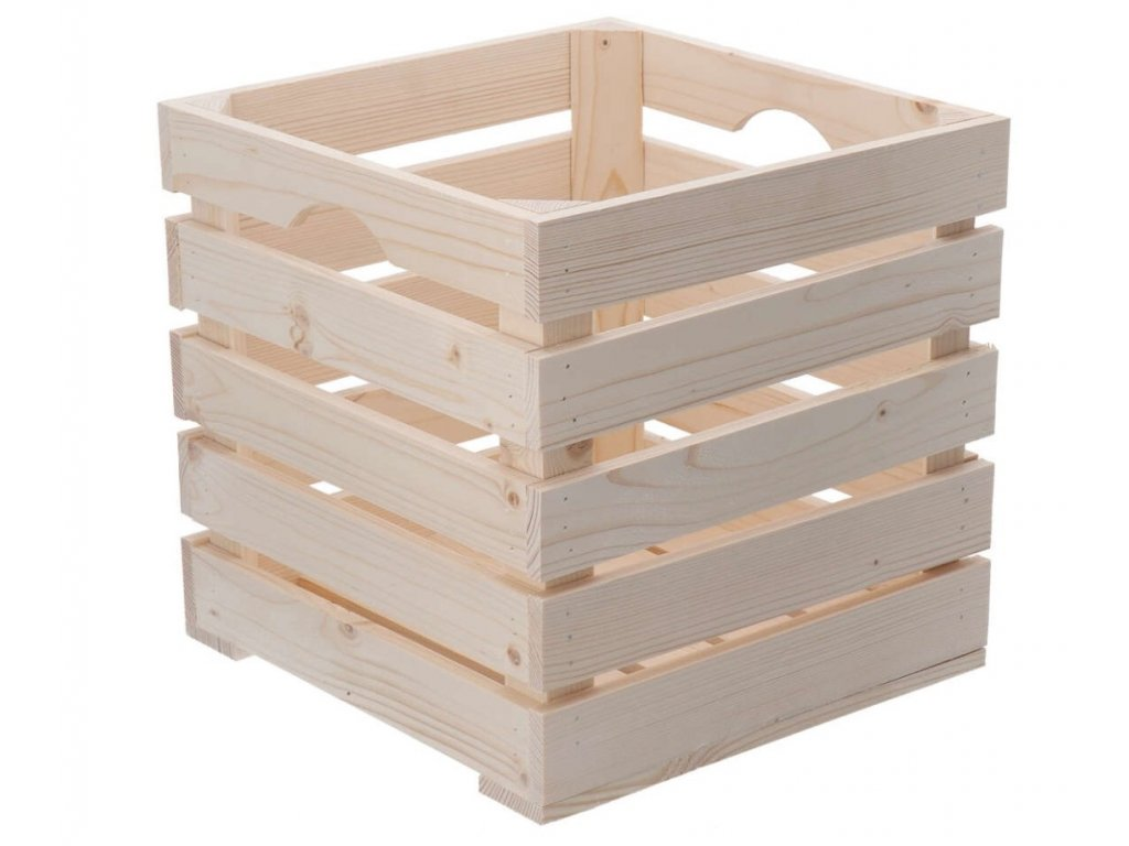 Dřevěná bedýnka 30 x 30 x 30cm