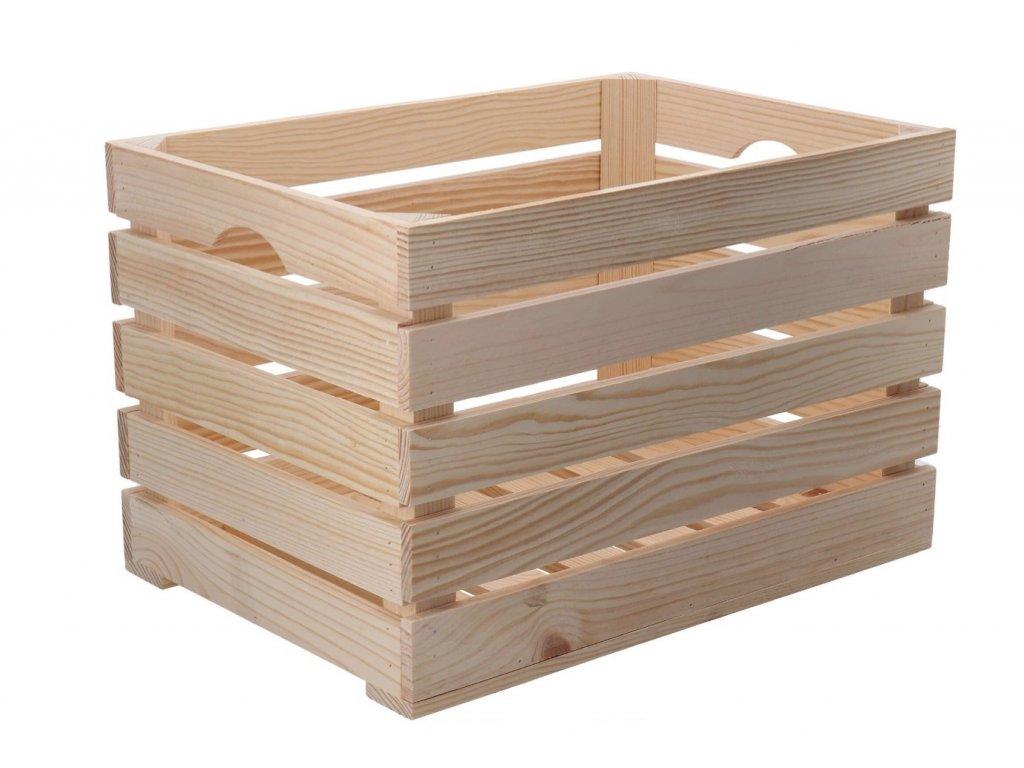 Dřevěná bedýnka 46 x 32 x 30cm