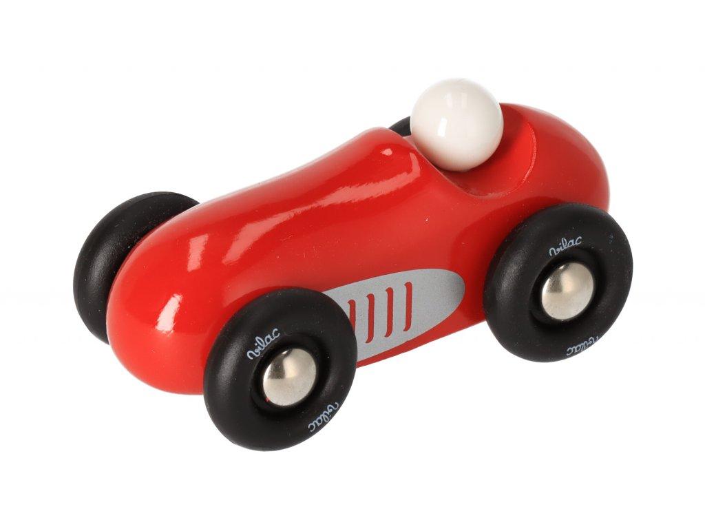 Dřevěné sportovní auto mini - červené