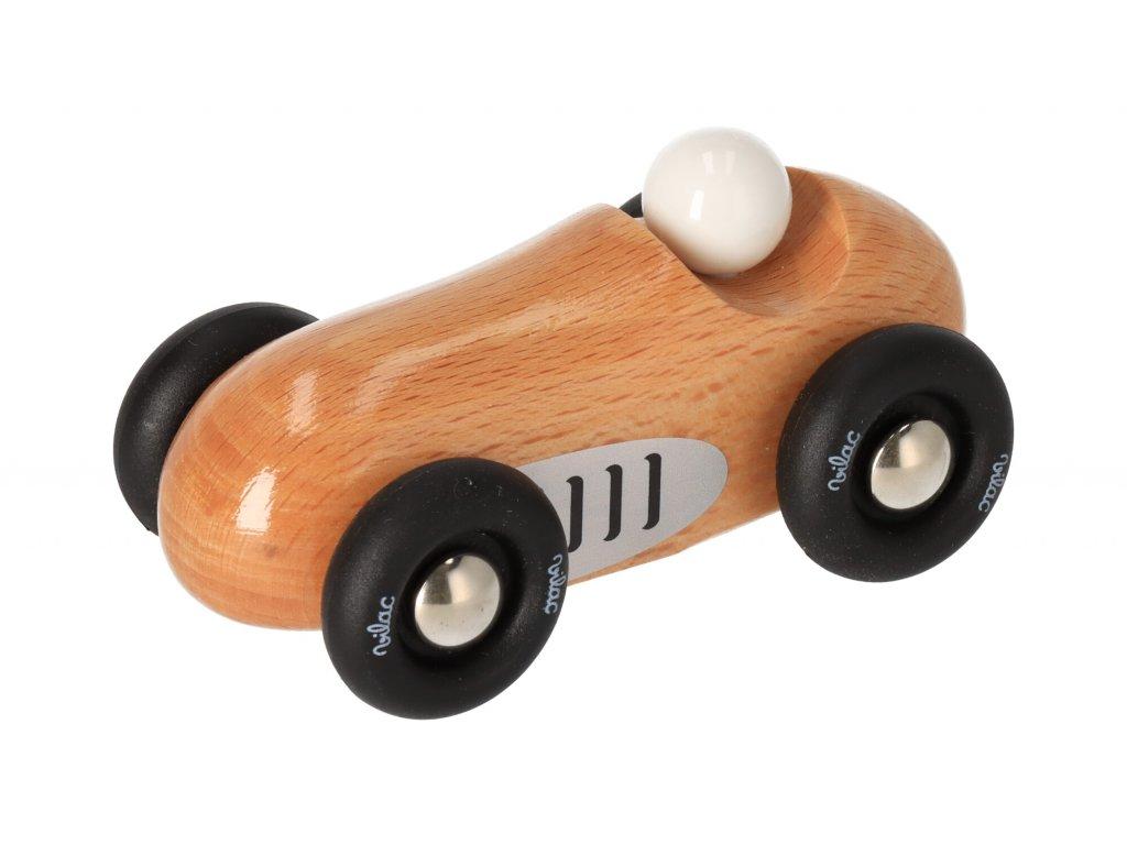 Dřevěné sportovní auto mini - přírodní
