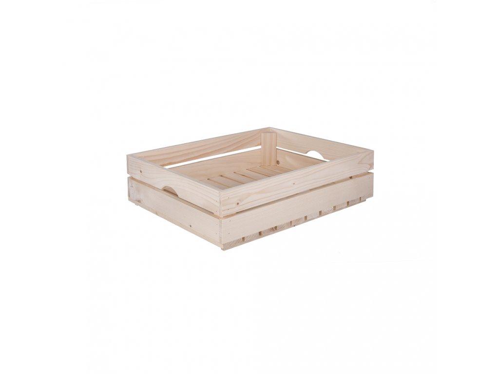 Dřevěná bedýnka 50 x 39 x 12 cm (protiskluzová)