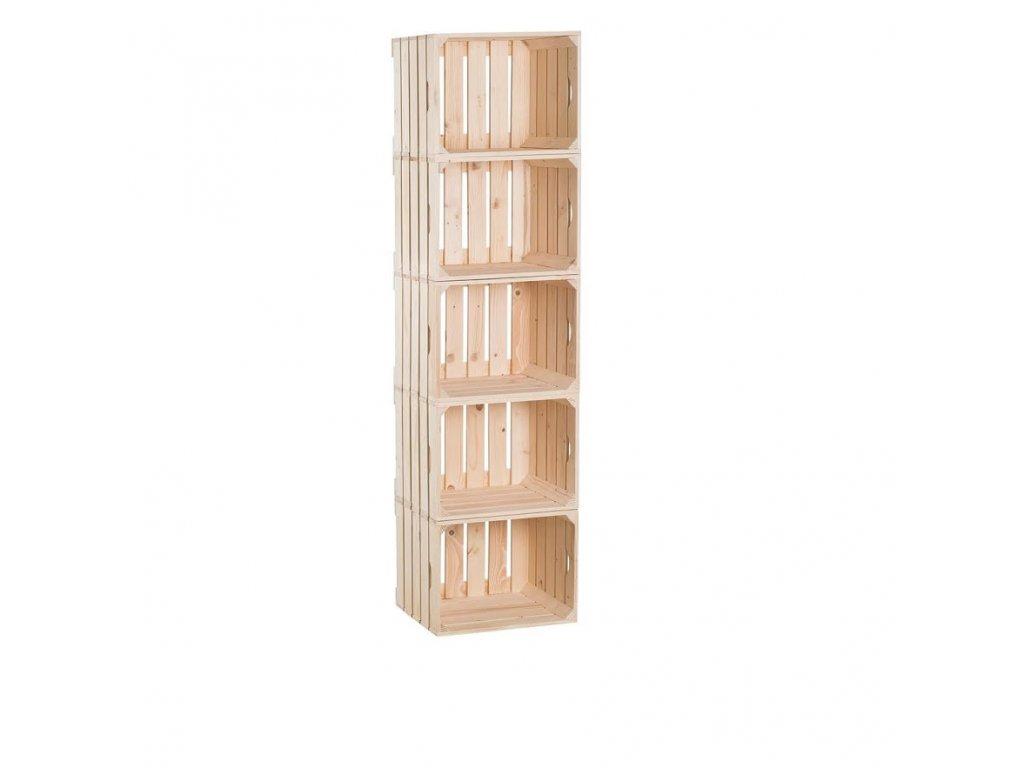 Dřevěné bedýnky regál 150 x 40 x 30 cm