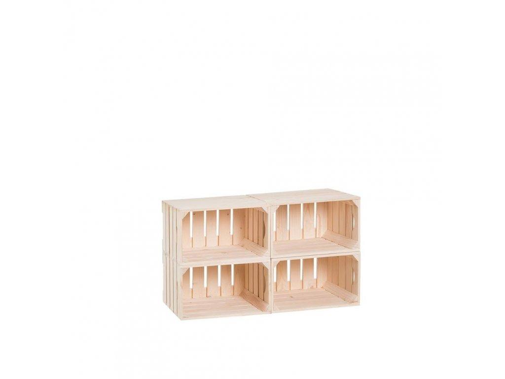 Dřevěné bedýnky botník 44 x 80 x 30 cm