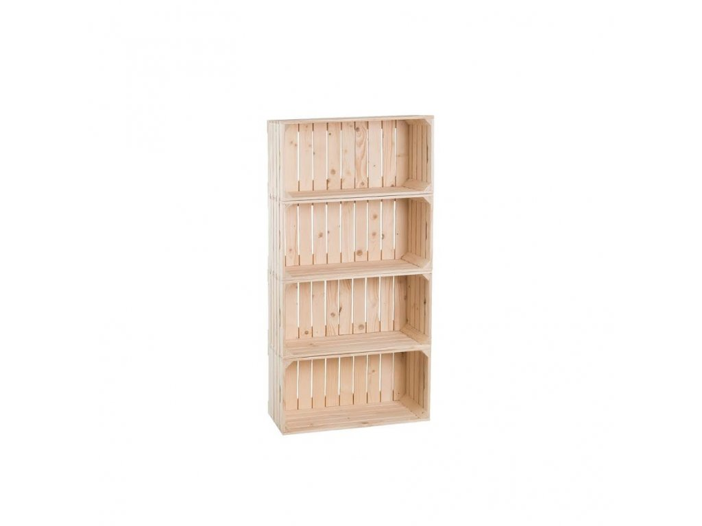 Dřevěné bedýnky regál 120 x 60 x 30 cm