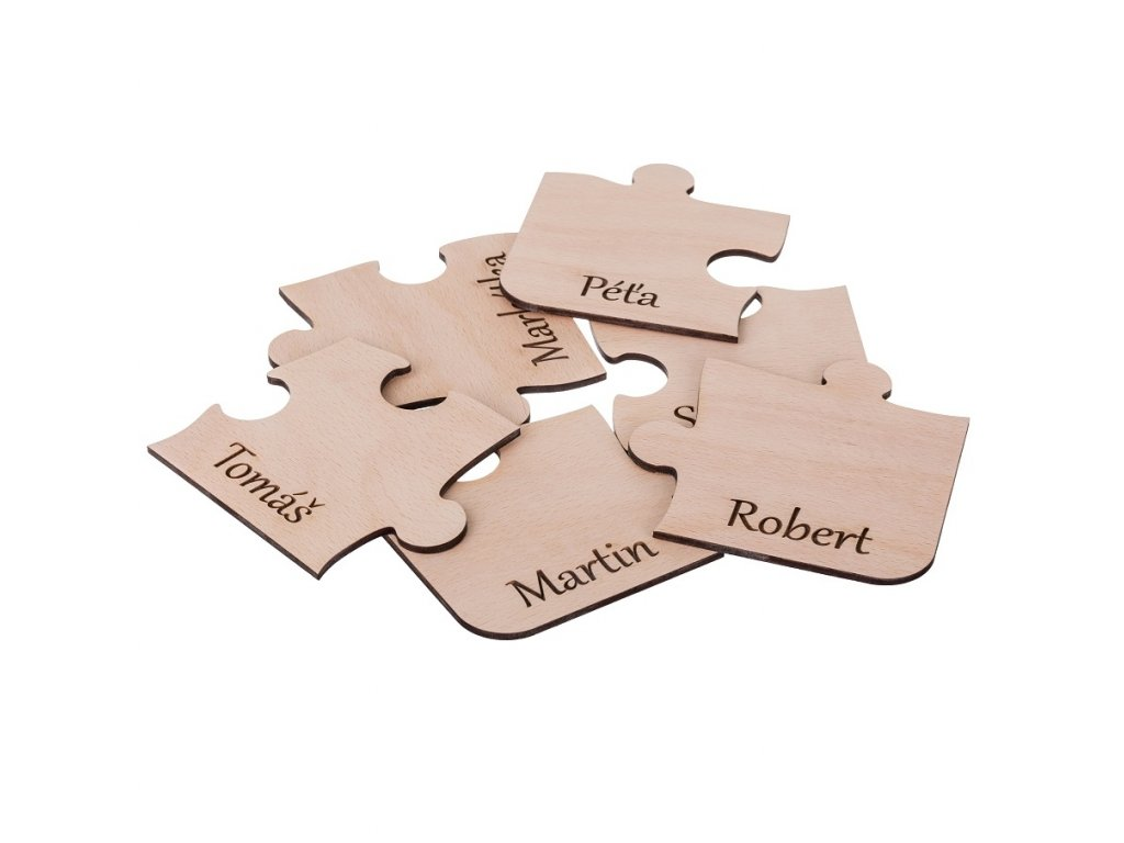 Dřevěné podtácky puzzle s vlastním motivem