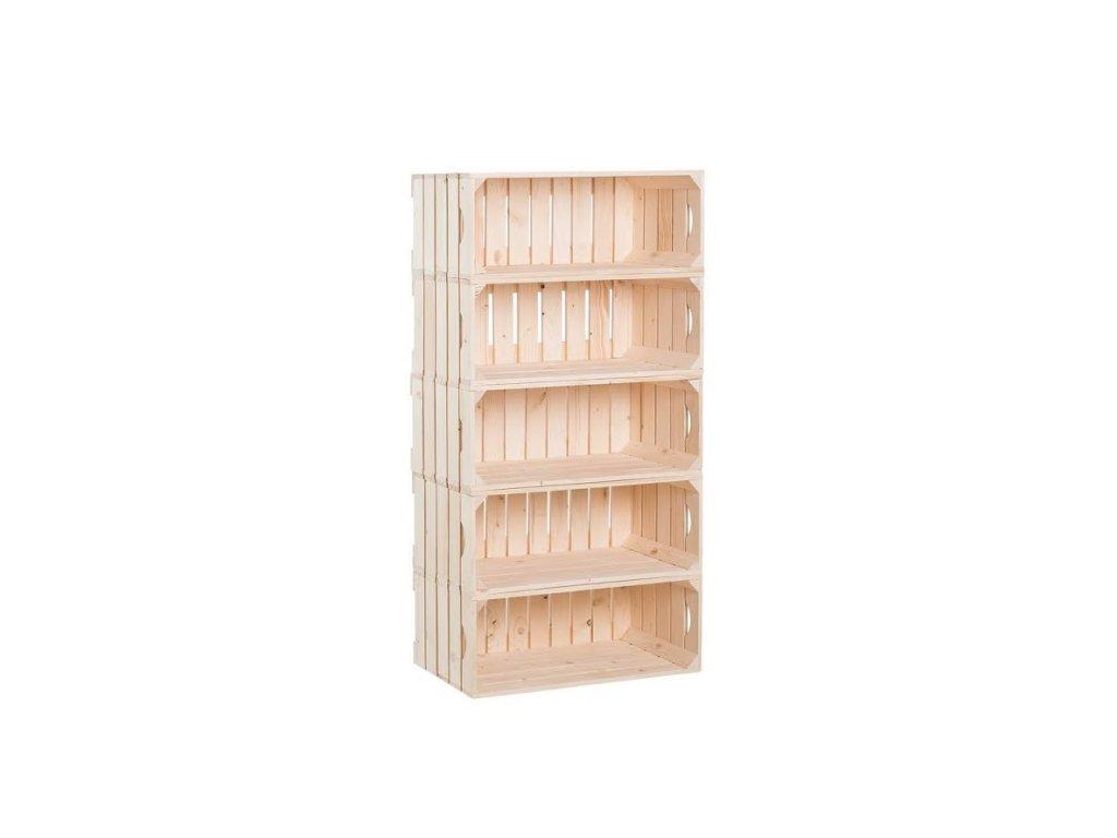 Dřevěné bedýnky regál 110 x 60 x 30 cm