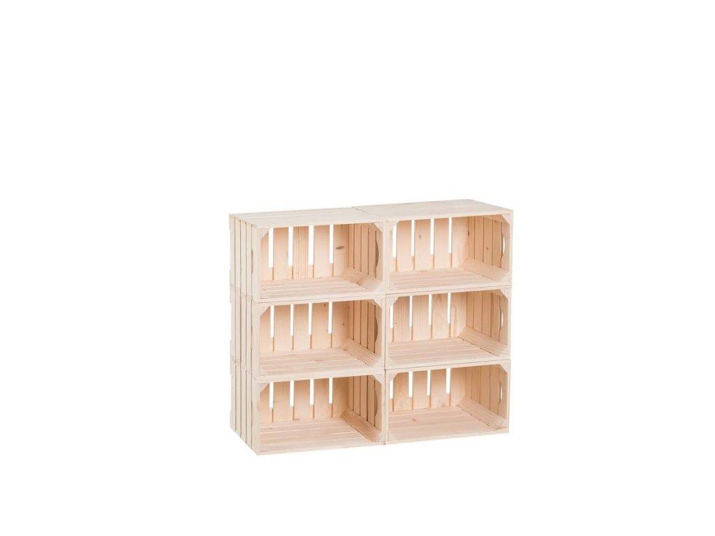 Dřevěné bedýnky knihovna 66 x 80 x 30 cm