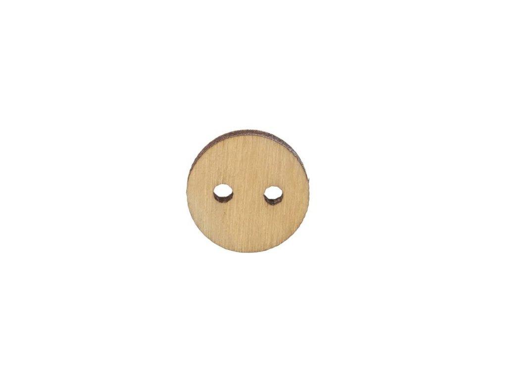 Dřevěný kulatý knoflík 1,5 cm