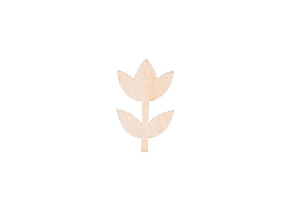 Dřevěná květina IV 8 x 5 cm