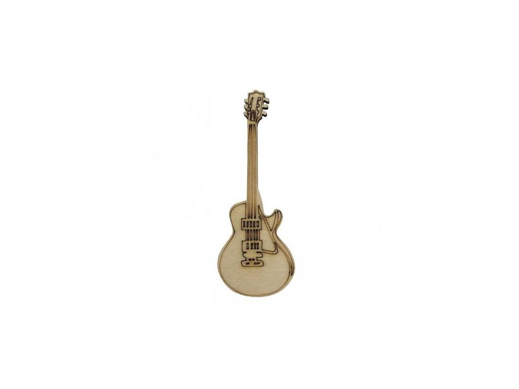 Dřevěná kytara 8 x 3 cm