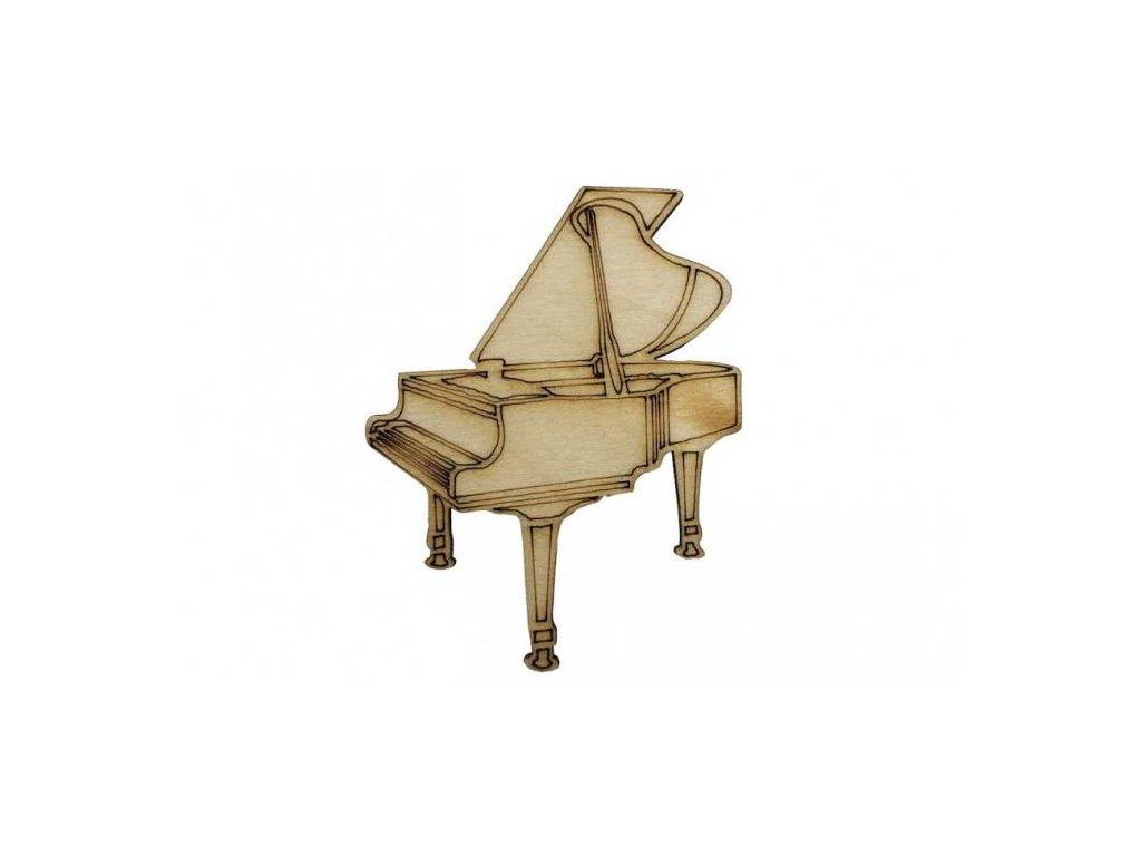 Dřevěný klavír 7 x 5,5 cm