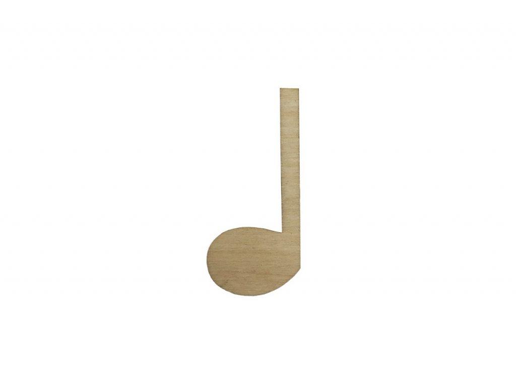 Dřevěná nota 5,5 x 2,5 cm