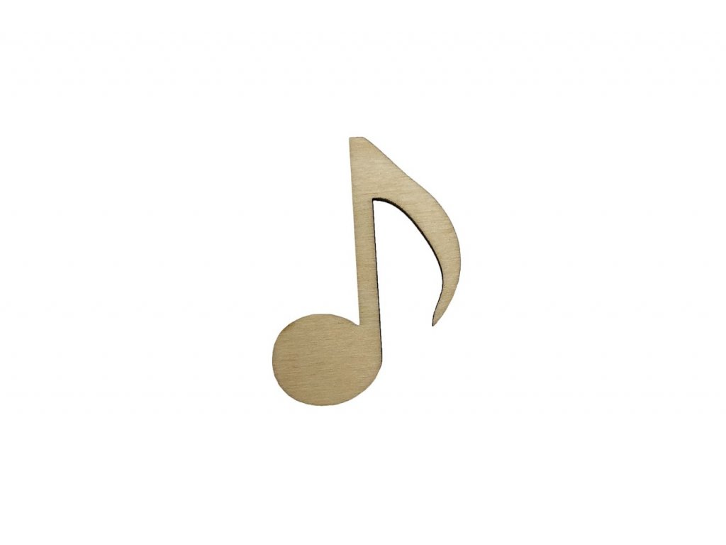 Dřevěná osminová nota 5,5 x 4 cm