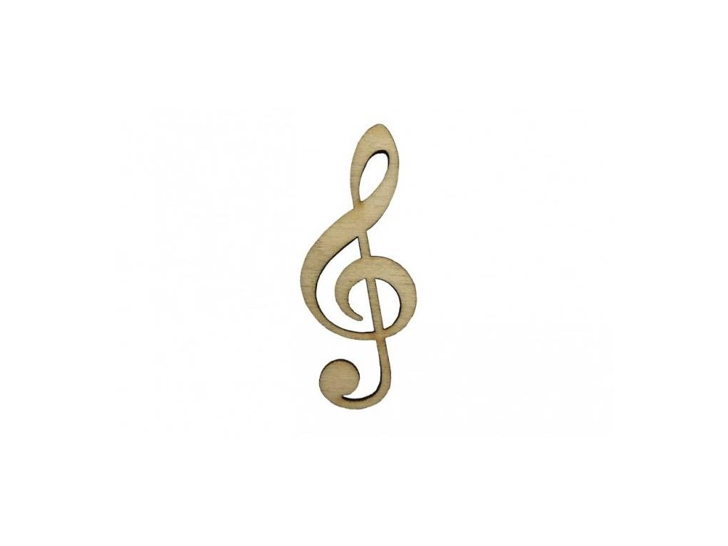 Dřevěný houslový klíč 6 x 2,5 cm