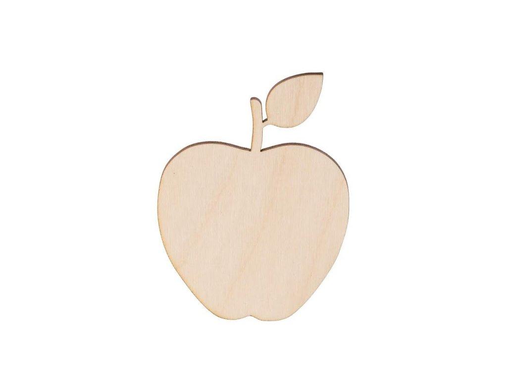 Dřevěné jablko 8 x 6 cm