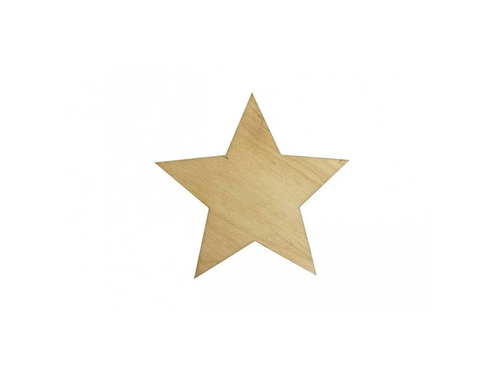 Dřevěná hvězda 7 x 7,5 cm