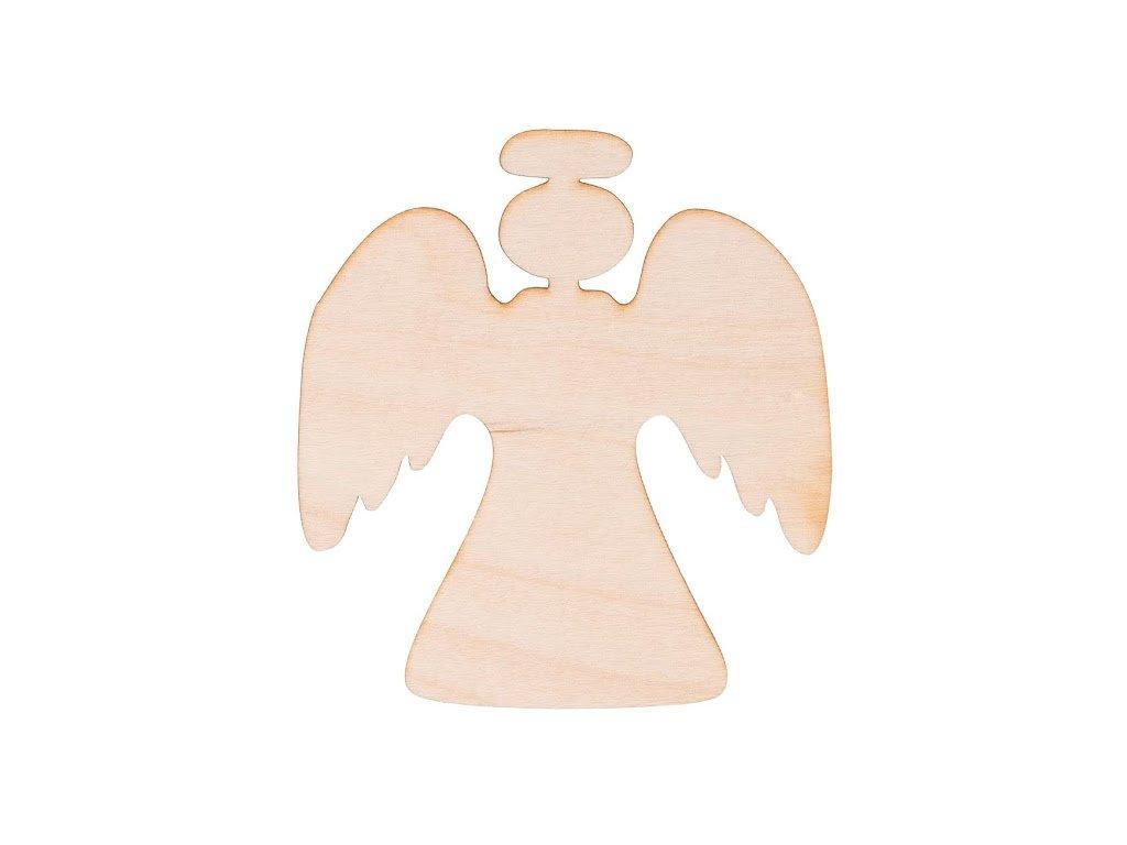 Dřevěný vánoční anděl II 10 x 9 cm