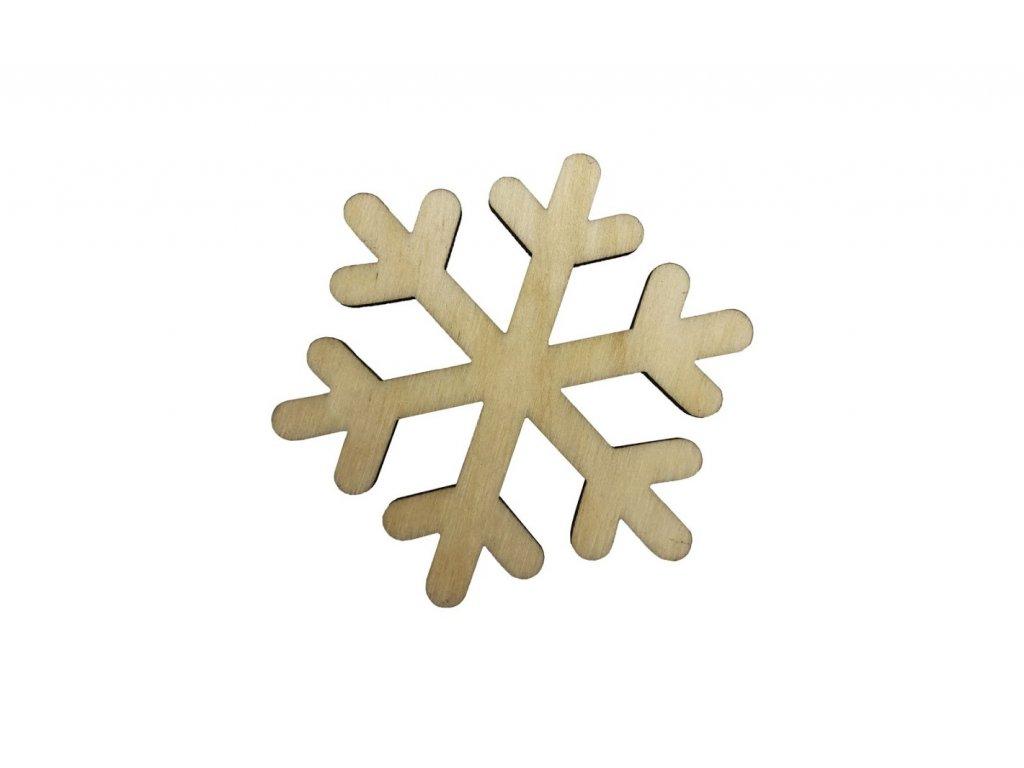 Dřevěná vánoční vločka II 6 x 5,5 cm