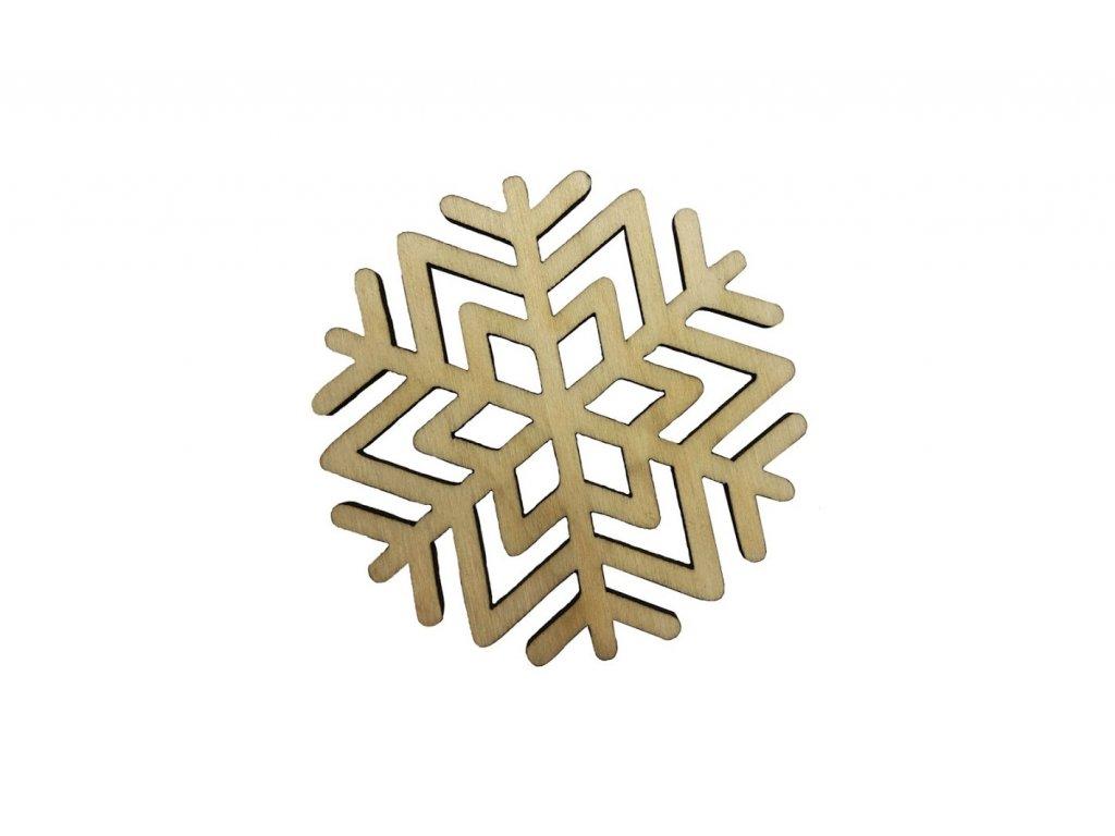Dřevěná vánoční vločka III 6 x 6 cm