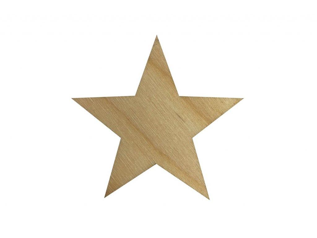 Dřevěná hvězda 5 x 5 cm