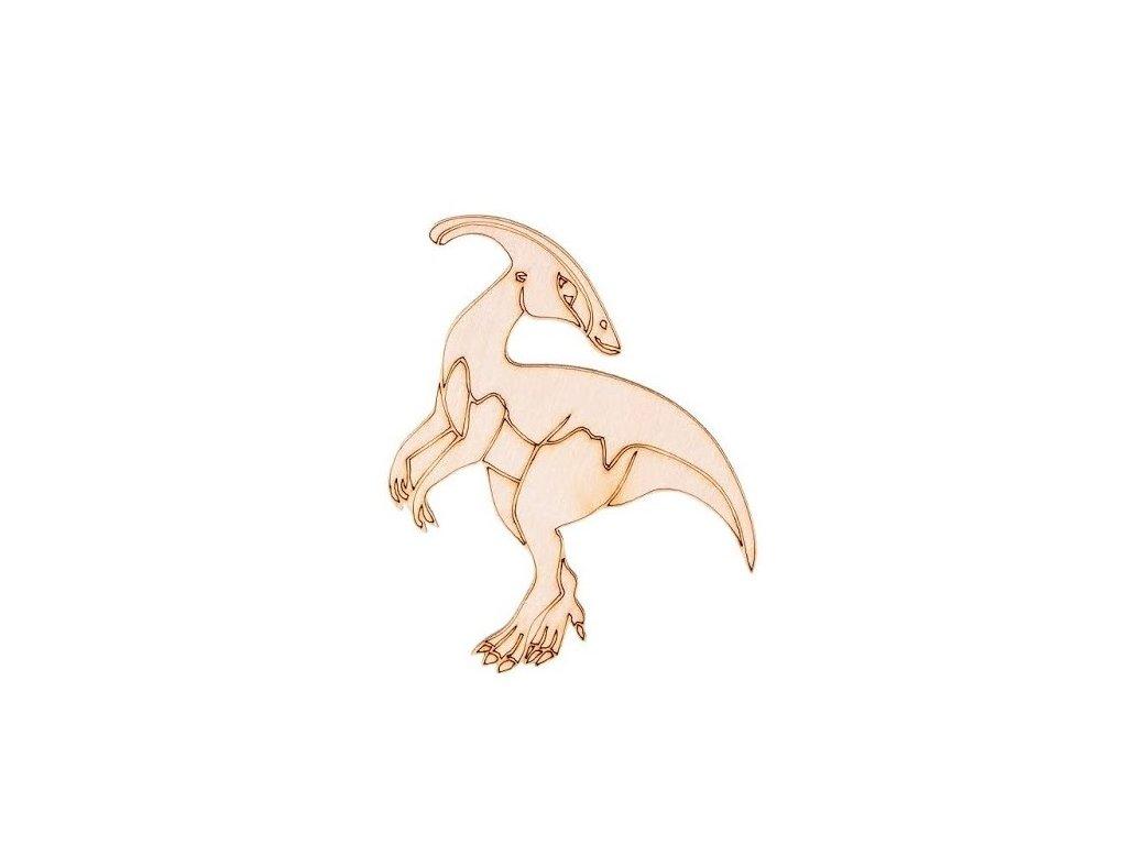 Dřevěný dinosaurus I 9 x 8,5 cm
