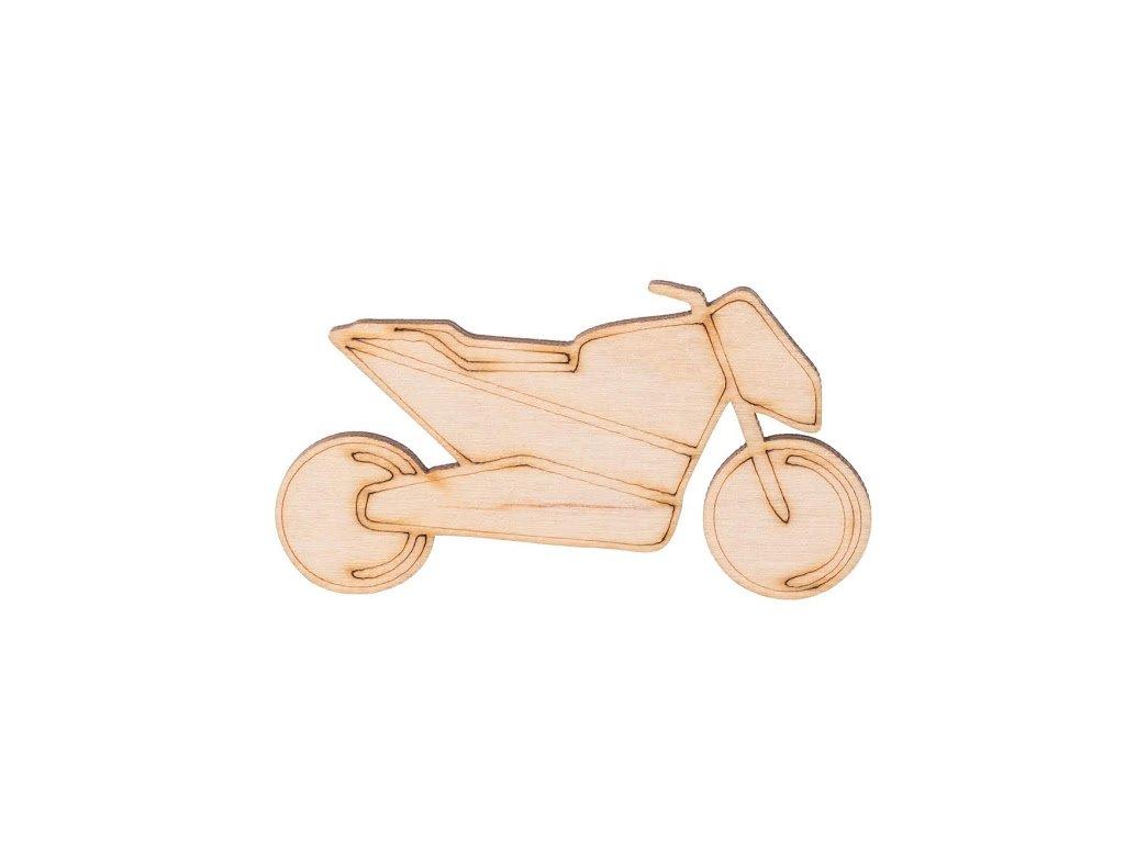 Dřevěná motorka 3,5 x 7 cm