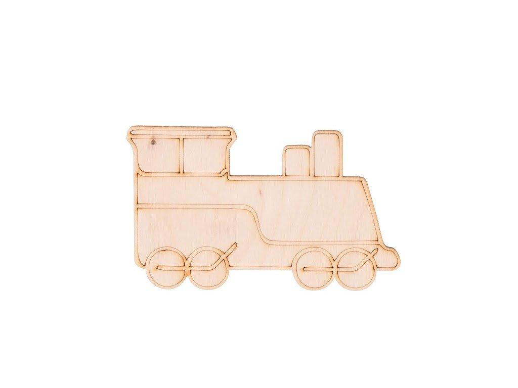 Dřevěný vlak 6 x 10 cm